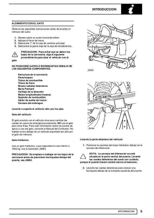 manual de reparacion land rover td5 rh es slideshare net manual de range rover sport 2006 manual de taller land rover discovery