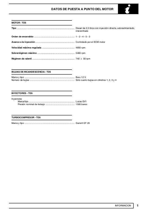 manual de reparacion land rover td5