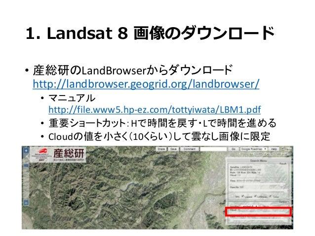 Landsat 8画像でNDVI算出 Slide 3