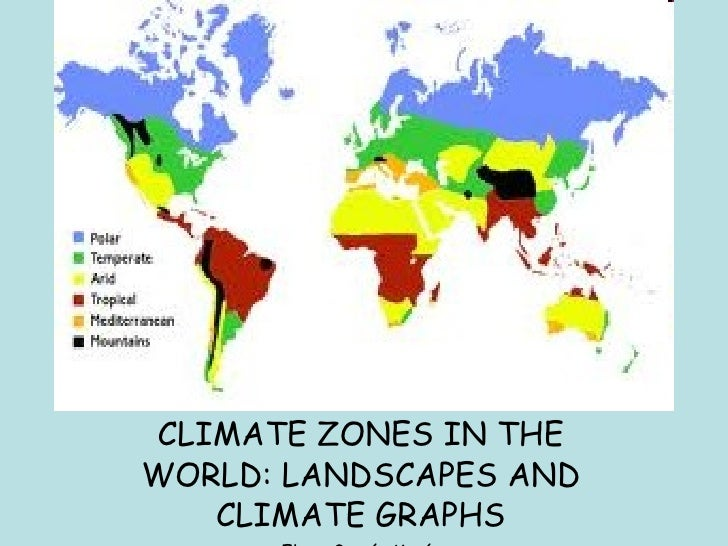CLIMATE ZONES IN THE WORLD: LANDSCAPES AND CLIMATE GRAPHS Elena García Marín