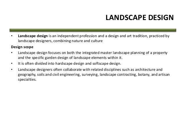 Landscape definition and meaning Definition landscape and design