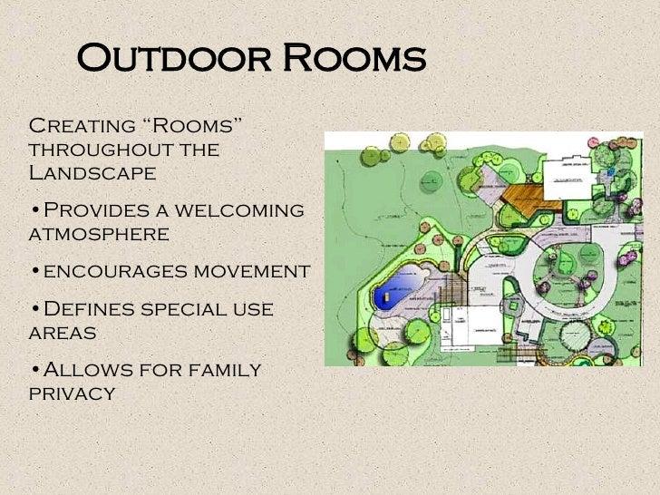 "<ul><li>Creating ""Rooms"" throughout the Landscape  </li></ul><ul><li>Provides a welcoming atmosphere </li></ul><ul><li>enc..."