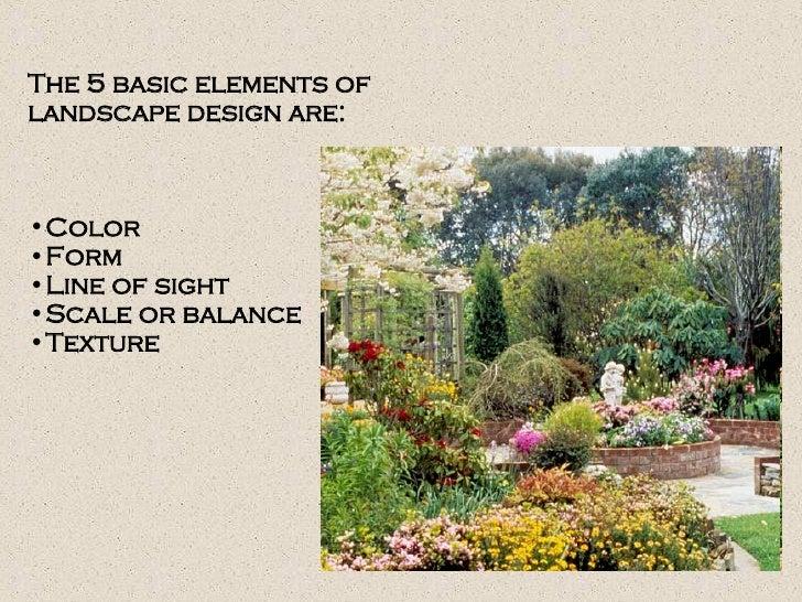Landscape Design U0026 Principles; 2.