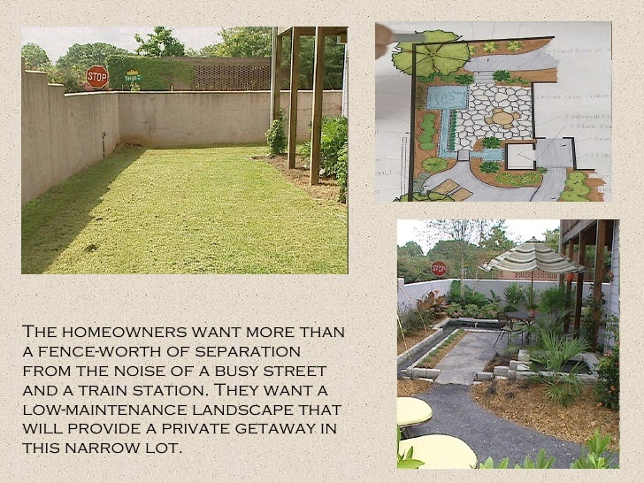The homeowners want more than a fence-worth of separation from the noise of a busy street and a train station. They want a...
