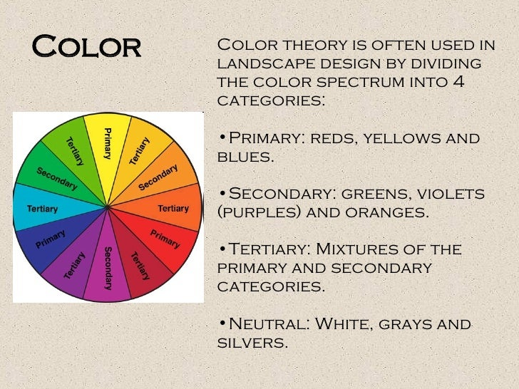 Color Principle Of Design : Landscape design and principles