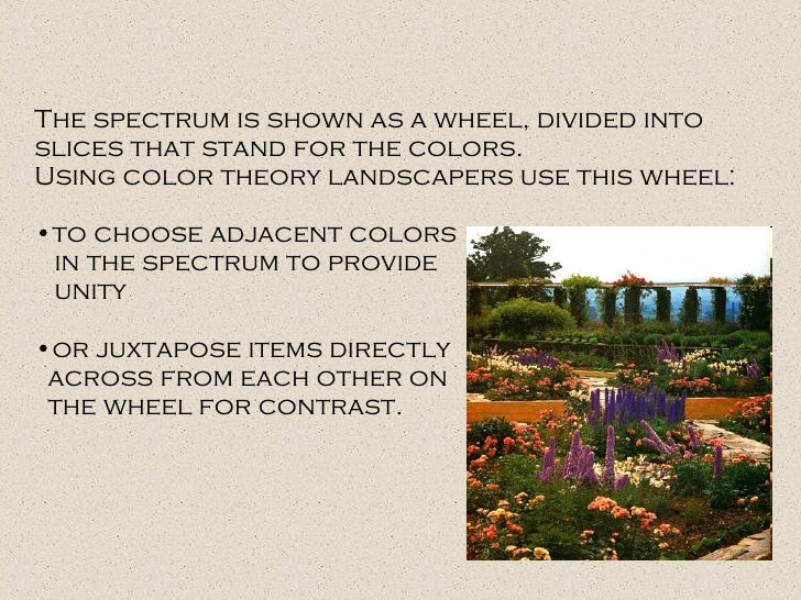 <ul><li>The spectrum is shown as a wheel, divided into slices that stand for the colors.  </li></ul><ul><li>Using color th...
