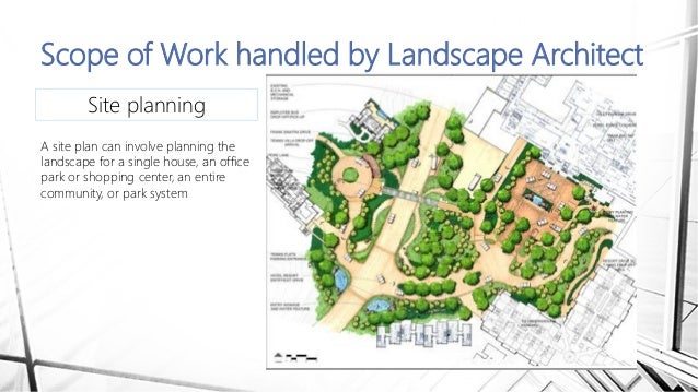 landscaping scope of work template - landscape architect