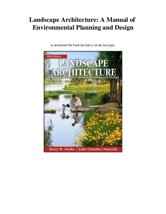 New Pdf Landscape Architecture A Manual Of Environmental Planning