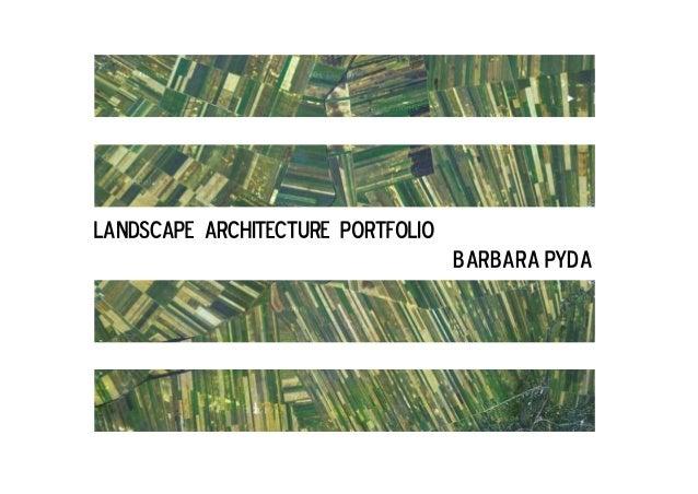 landscape architecture portfolio barbara pyda