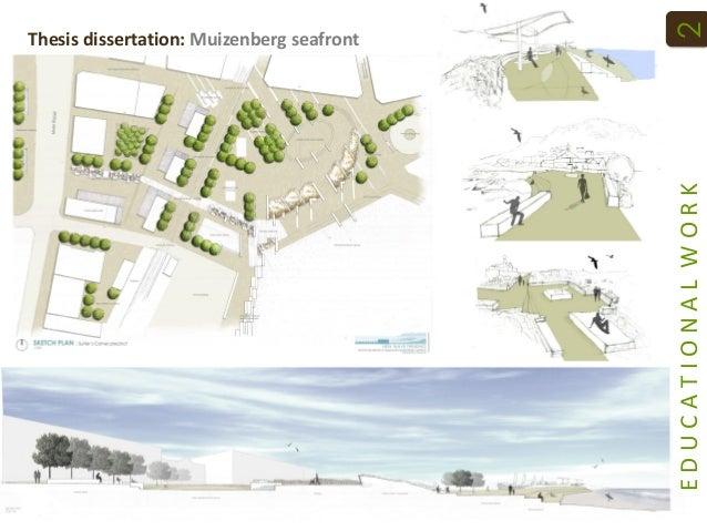 Landscape architecture thesis statement