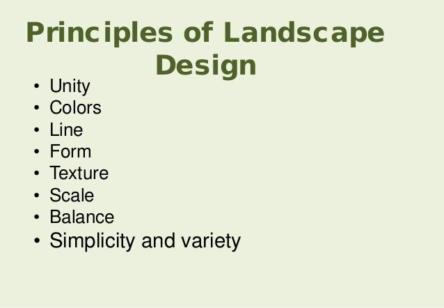 Form Principle Of Design : What is landscape architecture