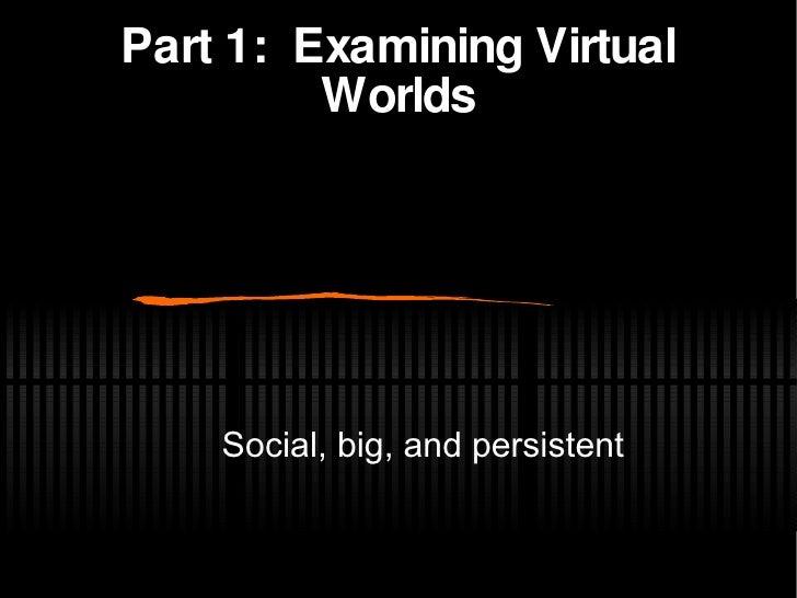 Landscape Of Virtual World Systems Slide 3