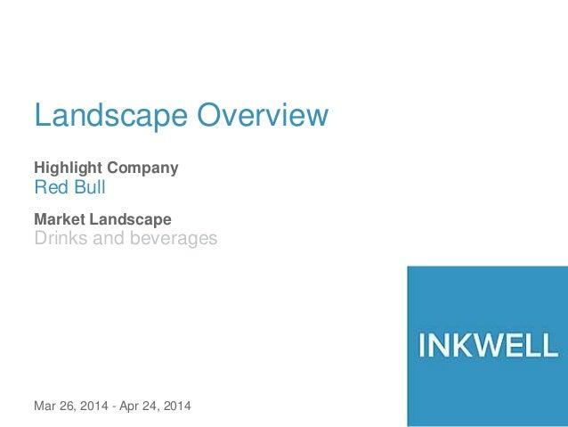 Landscape Overview Highlight Company Red Bull Mar 26, 2014 - Apr 24, 2014 Market Landscape Drinks and beverages
