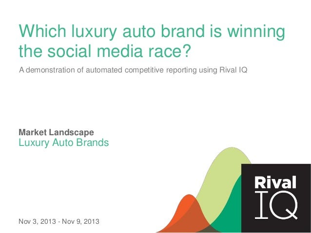 Which luxury auto brand is winning the social media race? A demonstration of automated competitive reporting using Rival I...