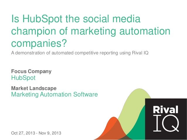 Is HubSpot the social media champion of marketing automation companies? A demonstration of automated competitive reporting...