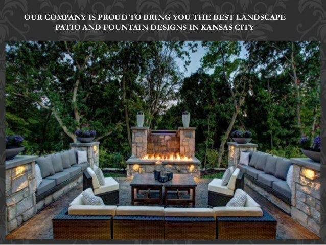 Landscape patio and fountains Kansas City 816-500-4198