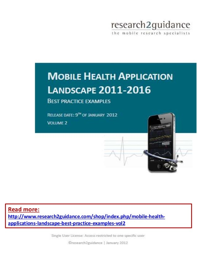 Read more: http://www.research2guidance.com/shop/index.php/mobile-health- applications-landscape-best-practice-examples-vo...