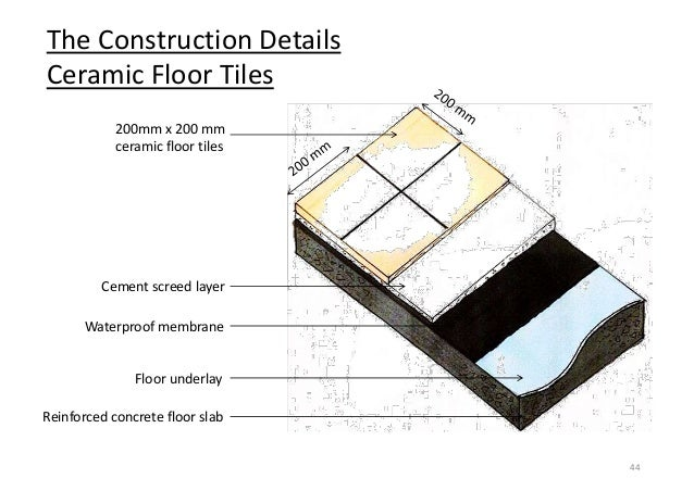 ... 44. The Construction Details Ceramic Floor Tiles ...