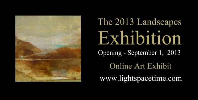 Landscapes 2013 Art Exhibition Event Postcard