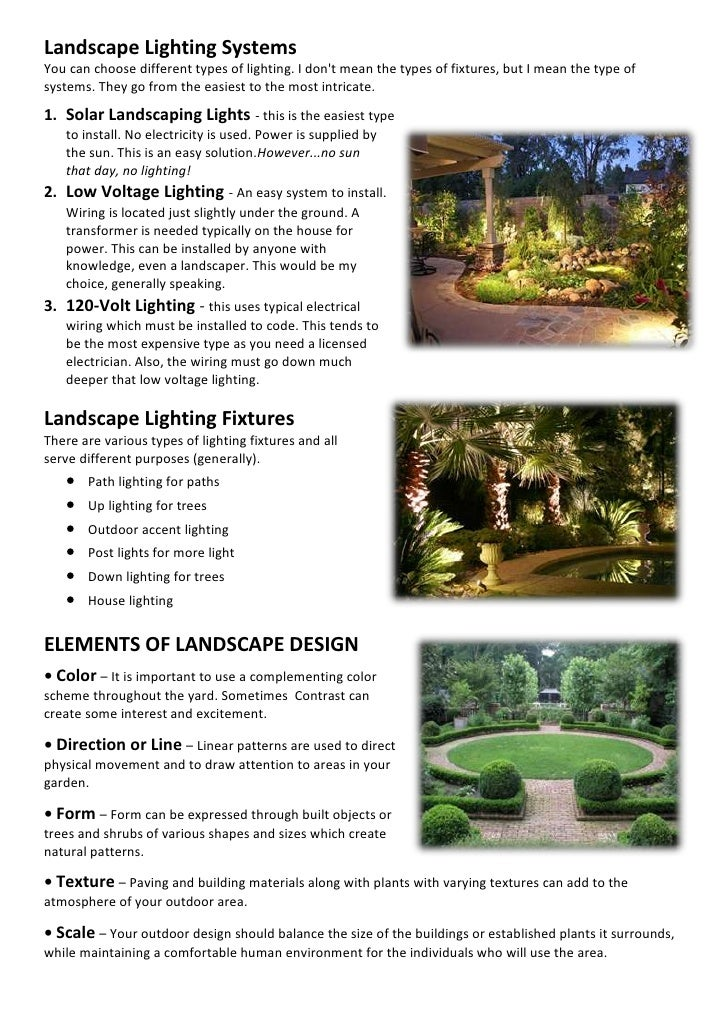 Landscape Lighting SystemsYou Can Choose Different ...