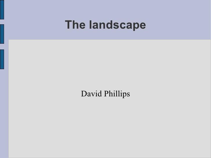 The landscape David Phillips