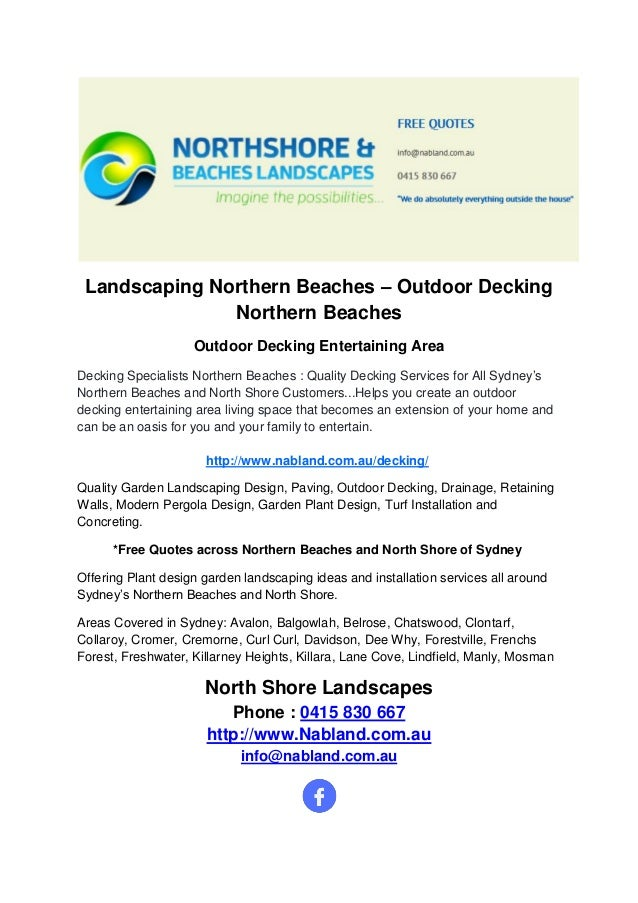Landscaping Northern Beaches Outdoor Decking Northern