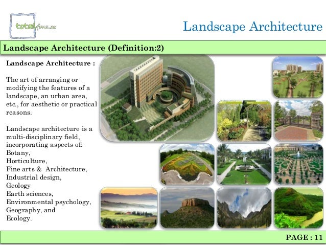 Landscaping architecture Definition landscape and design