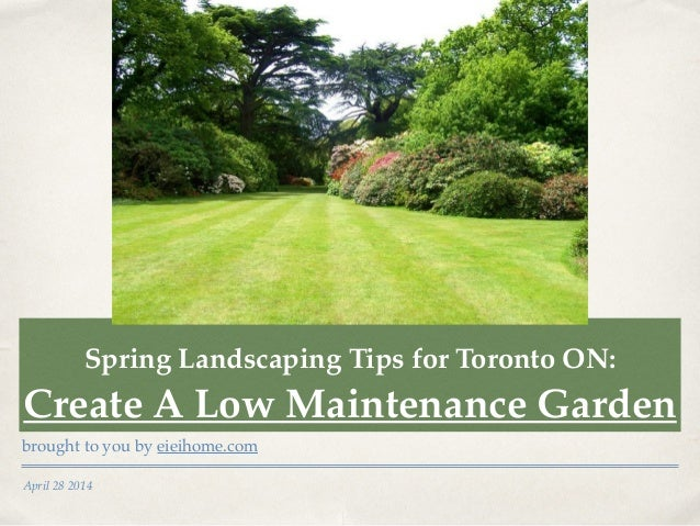 Landscaping Tips For Toronto On Creating A Low