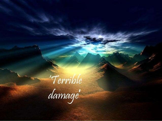 'Terrible damage'