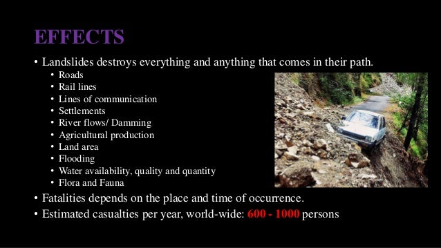 landslides and infastructure