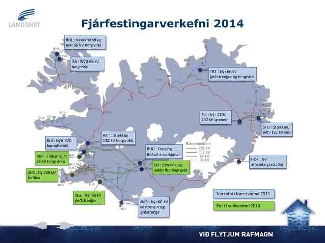AKR : Endurnýjun 66 kV tengivirkis SN2 : Ný 220 kV loftlína SE3 : Nýr 66 kV jarðstrengur SI3 : Styrking og aukin flutnings...