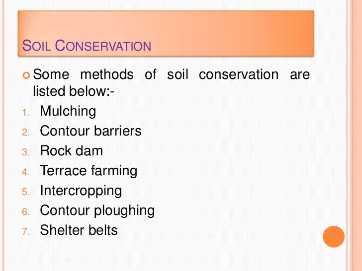 land soil water natural vegetation 11 soil conservation
