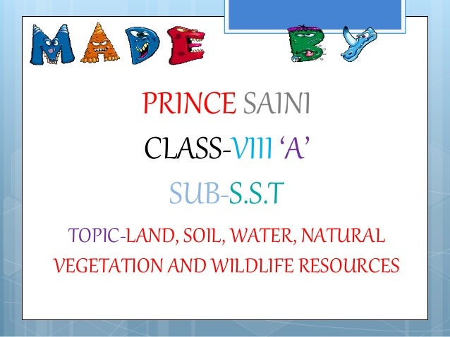 Land soil water natural vegetation and wildlife resources for Land and soil resources definition