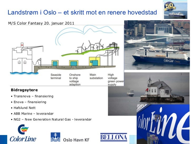 Landstrøm i Oslo – et skritt mot en renere hovedstad <ul><li>Bidragsytere </li></ul><ul><li>Transnova – finansiering </li>...