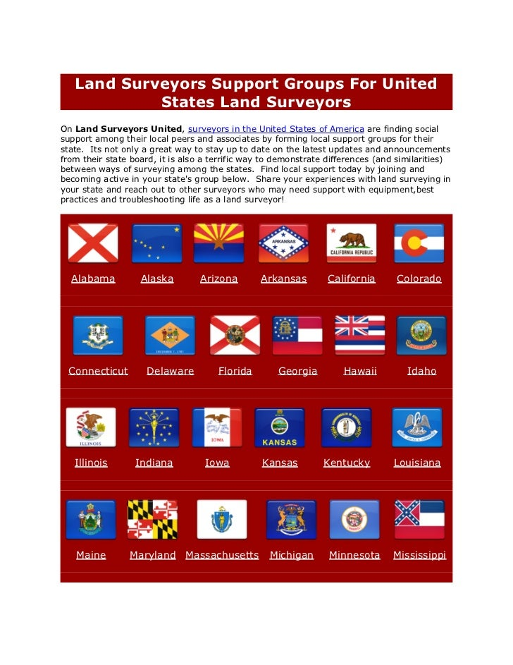 Land Surveyors Support Groups For United            States Land SurveyorsOn Land Surveyors United, surveyors in the United...
