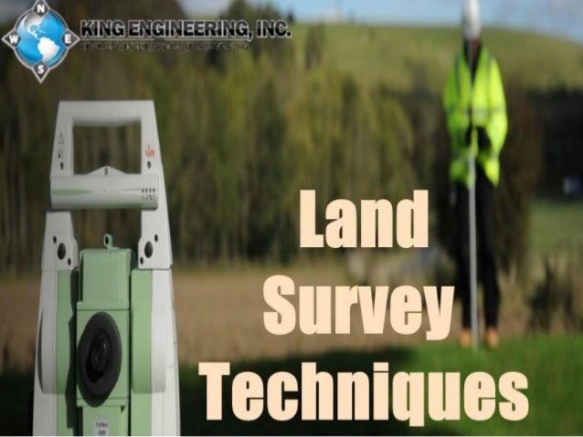 Land survey techniques