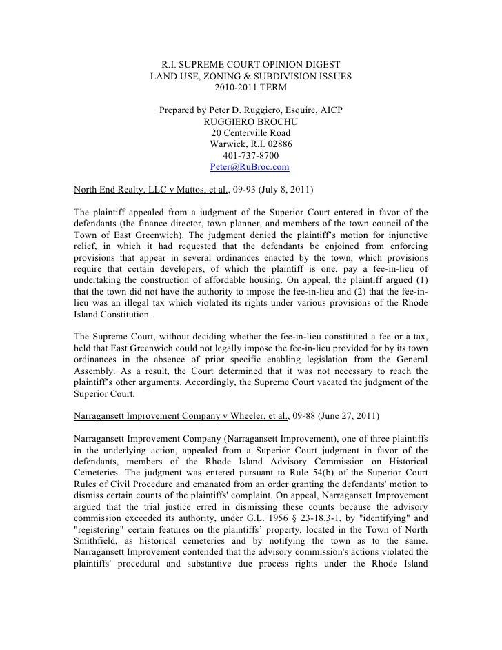 Land Use Law Update - RI
