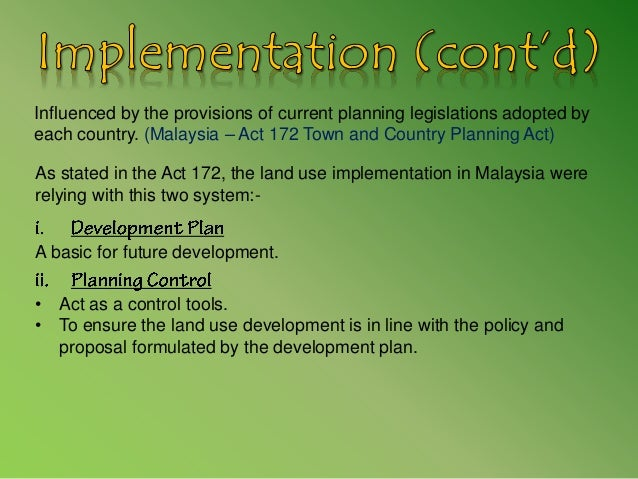 Land Use Planning In Malaysia