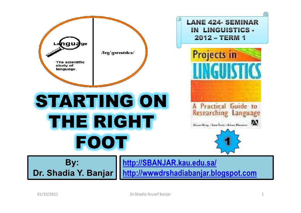 STARTING ON THE RIGHT   FOOT                                            1        By:            http://SBANJAR.kau.edu.sa/...