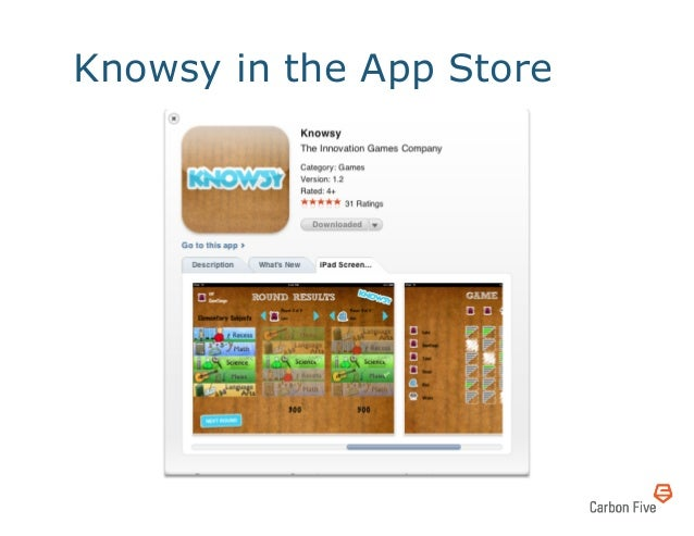 Knowsy in the App Store