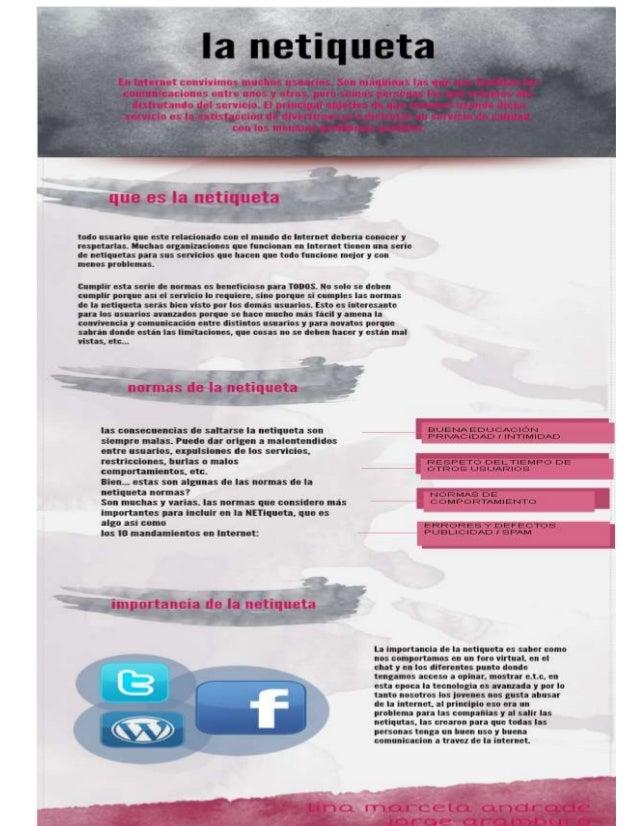 La netiqueta infografia jorge aramburo lina marcela andrade