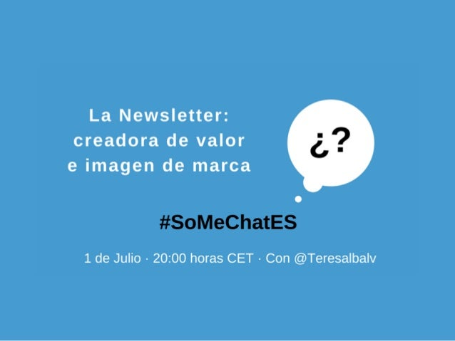 SoMeChat.es @SoMeChatES @aroru26
