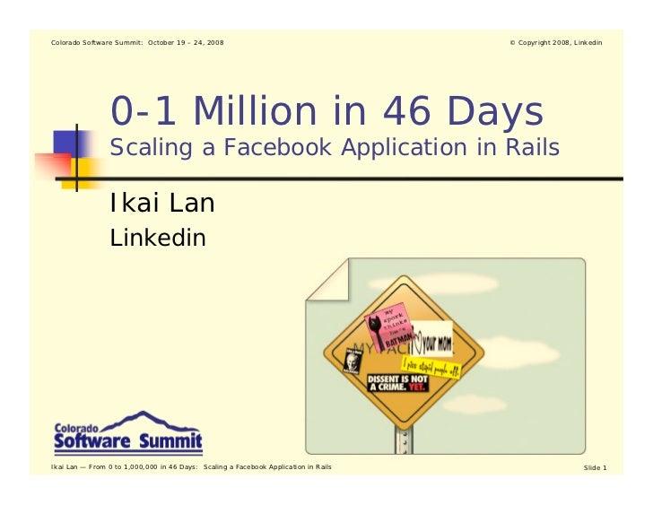 Colorado Software Summit: October 19 – 24, 2008                                      © Copyright 2008, Linkedin           ...
