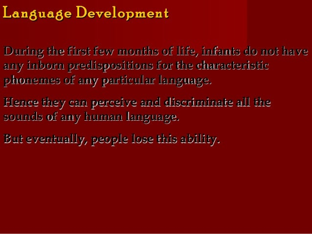 language acquisition and development pdf