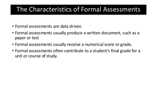Language Assessmentformal And Informal