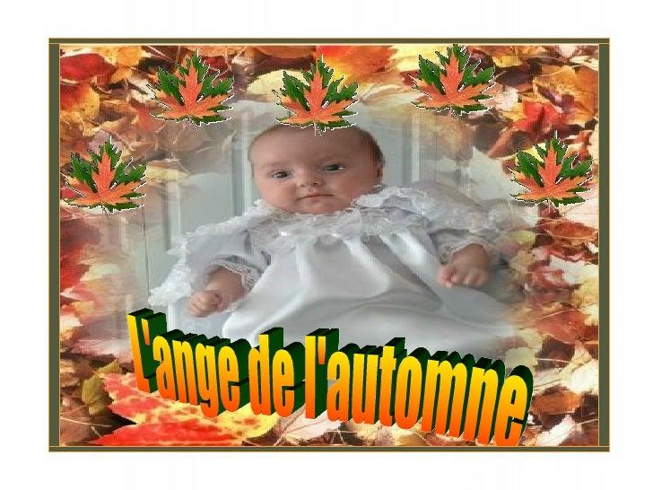 L'ange de l'automne