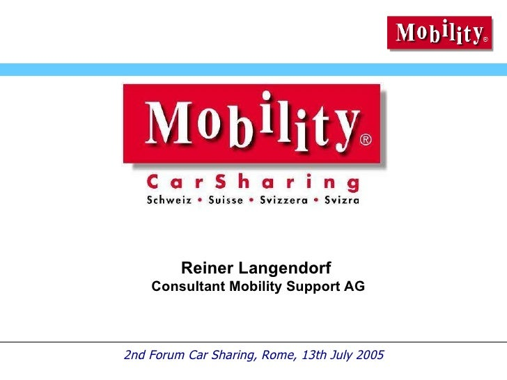 Reiner Langendorf  Consultant Mobility Support AG