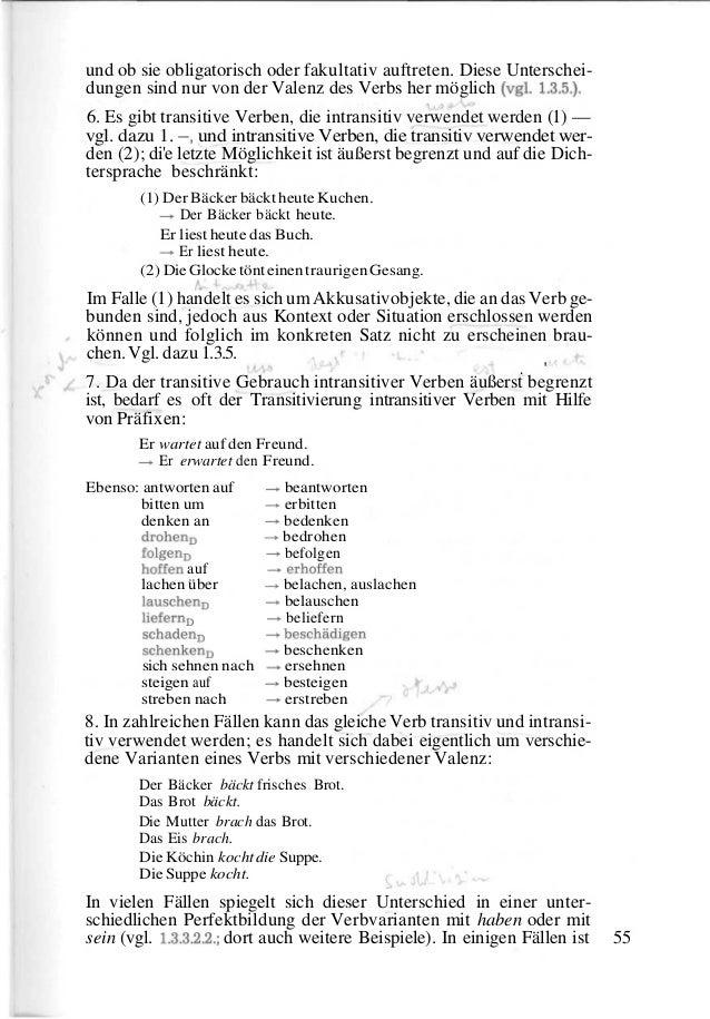Berühmt Transitiven Und Intransitiven Verben Arbeitsblatt Galerie ...