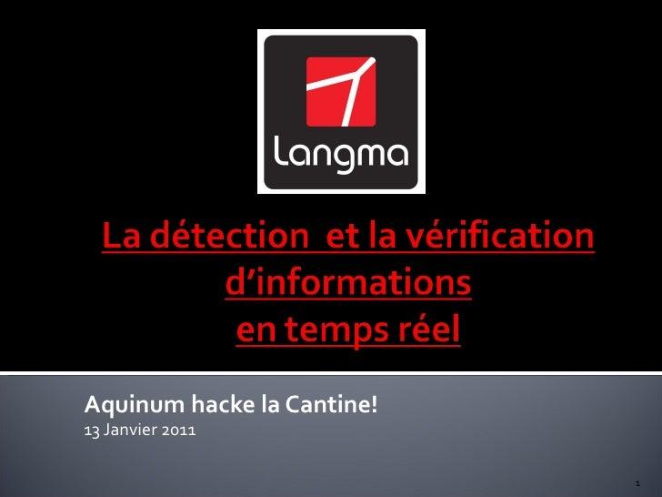 Aquinum hacke la Cantine! 13 Janvier 2011