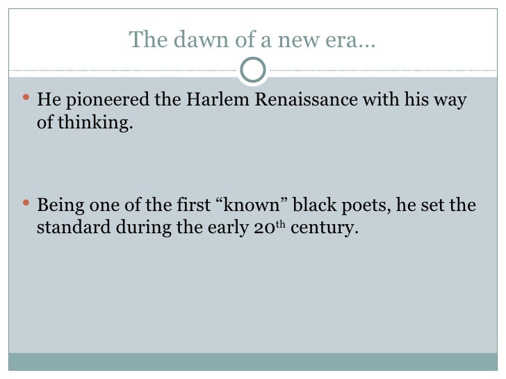 harlem renaissance essay thesis The new negro renaissance maryemma graham - university of kansas when langston hughes left his native midwest to attend columbia university in 1921, he was excited about his new school's location in the harlem community.